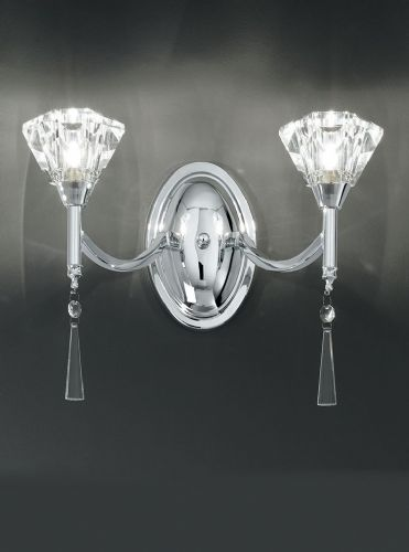 Franklite FL2237/2 Chrome Wall Light